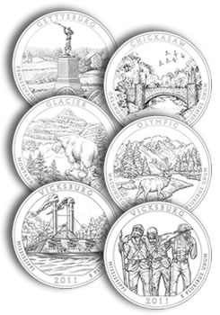 America Beautiful Quarter Design Examples
