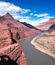 THE COLORADO RIVER IN THE EASTERN END OF GRAND CANYON - BELOW DESERT VIEW OVERLOOK. NPS PHOTO.