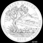 Grand Canyon National Park Quarter, Design Candidate AZ-03 - Click to Enlarge