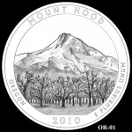 Mount Hood National Forest Site Quarter, Design Candidate OR-01 - Click to Enlarge