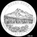 Mount Hood National Forest Site Quarter, Design Candidate OR-04 - Click to Enlarge