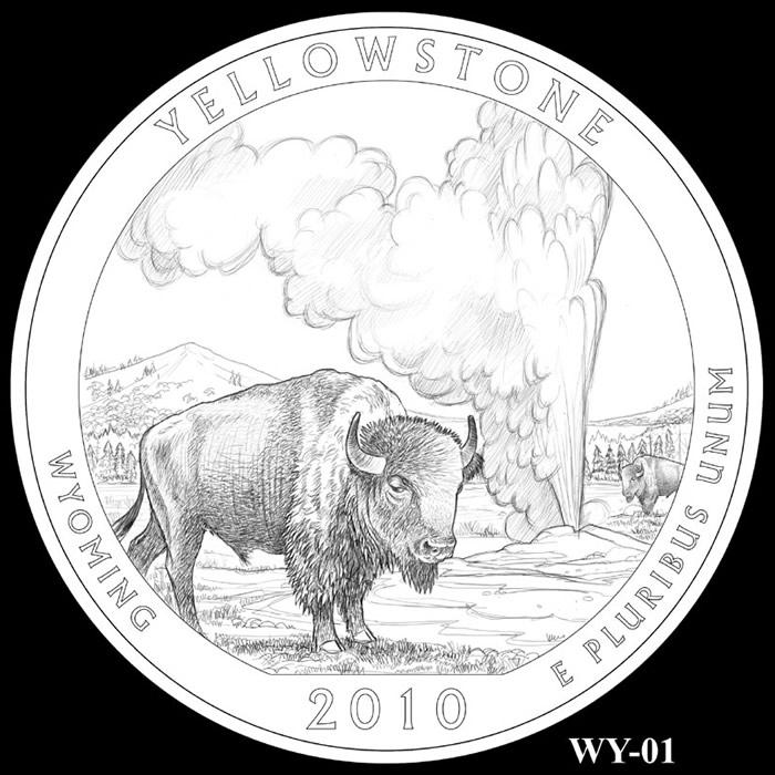 Yellowstone National Park Quarter | Wyoming | 2010 America ...