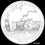 Yellowstone National Park Quarter, Design Candidate WY-02 - Click to Enlarge