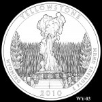 Yellowstone National Park Quarter, Design Candidate WY-03 - Click to Enlarge