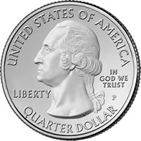 2011 America the Beautiful Quarter Obverse