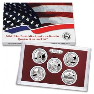 2010 US Mint America the Beautiful Quarters Silver Proof Set