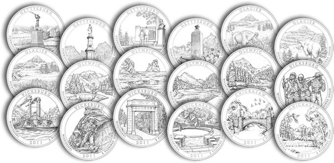 2011 America the Beautiful Quarter Design Candidates