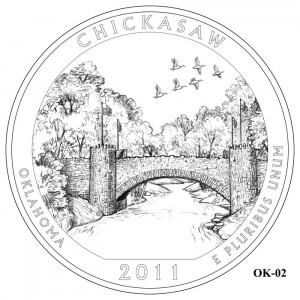 Chickasaw National Recreation Area Quarter Design OK-02