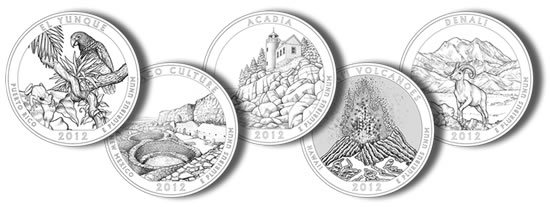 Designs for 2012 America the Beautiful Quarters
