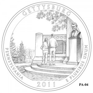 Gettysburg National Military Park Quarter Design PA-04