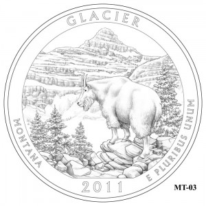 Glacier National Park Quarter Design MT-03