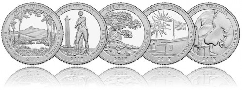 Reverses of 2013 America the Beautiful Quarters