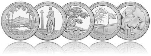 Reverses of 2013 America the Beautiful Quarters