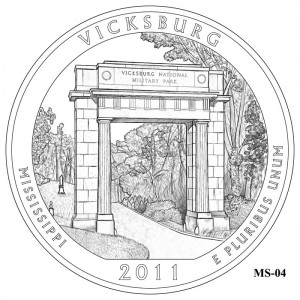 Vicksburg National Military Park Quarter Design MS-04