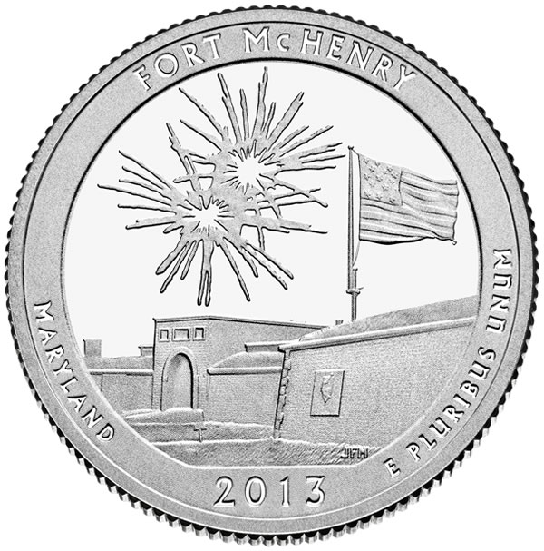 2013 Fort Mchenry National Monument And Historic Shrine Quarter U S