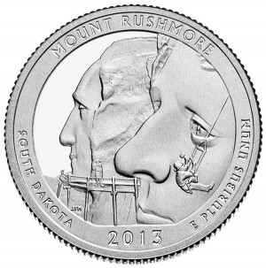 2013 Mount Rushmore National Memorial Quarter