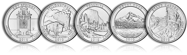 2010 America the Beautiful Quarters - Larger Images Below