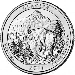 2011 Glacier National Park Quarter (US Mint image)