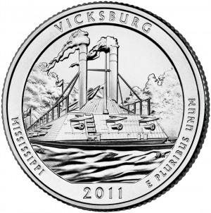 2011 Vicksburg National Military Park Quarter (US Mint image)