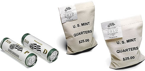 2010 Yellowstone National Park Quarter Bags and Two-Roll Set