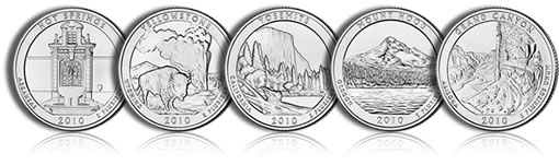 2010 America the Beautiful 5 oz Silver Bullion Coins