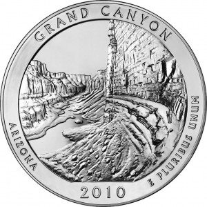 2010 Grand Canyon National Park Silver Bullion Coin