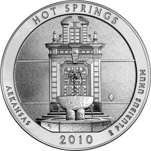 2010 Hot Springs National Park Silver Bullion Coin