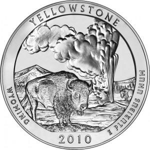2010 Yellowstone National Park Silver Bullion Coin