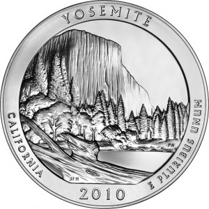 2010 Yosemite National Park Silver Bullion Coin