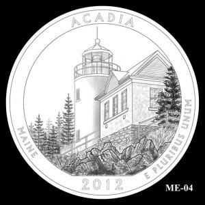2012 Acadia Quarter Design Candidate ME-04