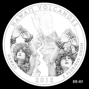 2012 Hawaii Volcanoes Quarter Design Candidate HI-03