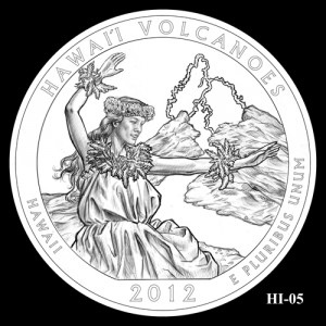 2012 Hawaii Volcanoes Quarter Design Candidate HI-05