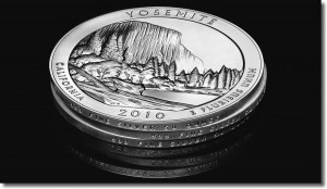 Edge View of 2010 America the Beautiful Silver Coins