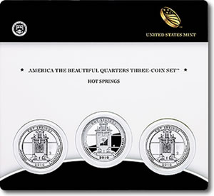Hot Springs America the Beautiful Quarters Three-Coin Set