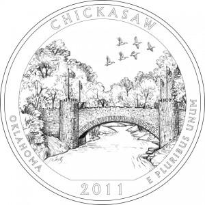 Chickasaw National Recreation Area Quarter Design