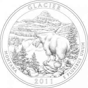 Glacier National Park Quarter Design