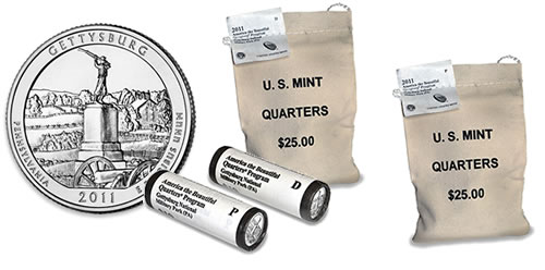 2011 Gettysburg National Military Park Quarter Bags and Rolls