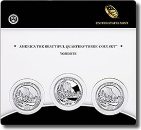 Yosemite America the Beautiful Quarters Three-Coin Set