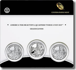 Grand Canyon America the Beautiful Quarters Three-Coin Set