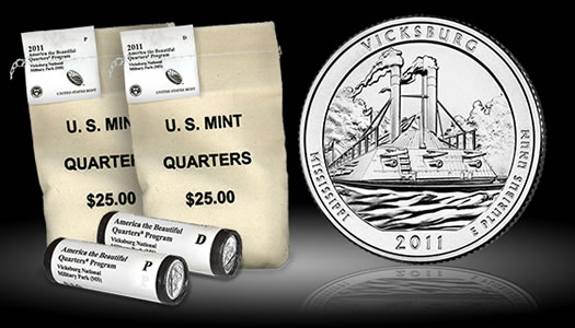 2011 Vicksburg National Military Park Quarter Bags and Rolls