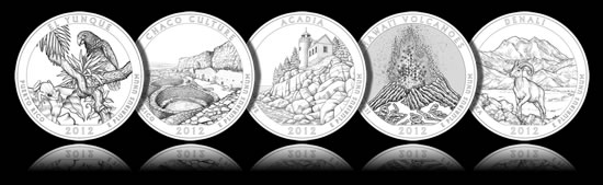 2012 America the Beautiful Quarters Designs