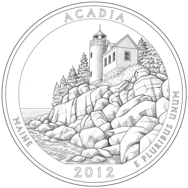 acadia national park quarter
