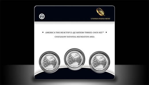 Chickasaw America the Beautiful Quarters Three-Coin Set
