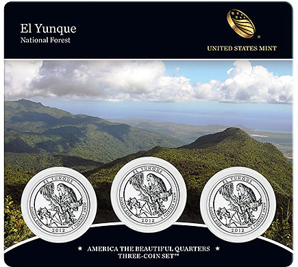 El Yunque National Forest Quarter Three-Coin Set