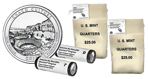 Chaco Culture National Historical Park Quarters in Bags and Rolls