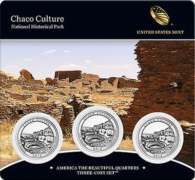 Chaco Culture National Historical Park Quarter Three-Coin Set