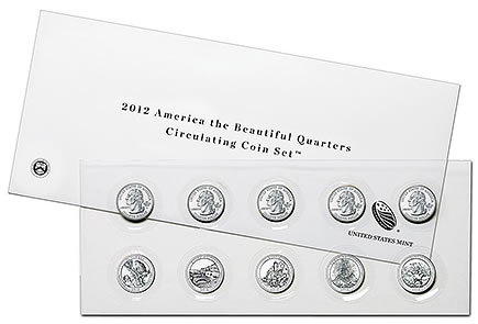 2012 America the Beautiful Quarters Circulating Coin Set