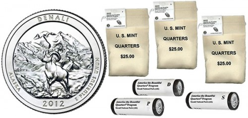 Bags and rolls of Denali National Park Quarters