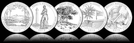 2013 America the Beautiful Quarters Designs