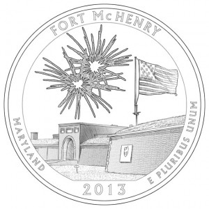 2013 Fort McHenry National Monument and Historic Shrine Quarter and Silver Coin Design